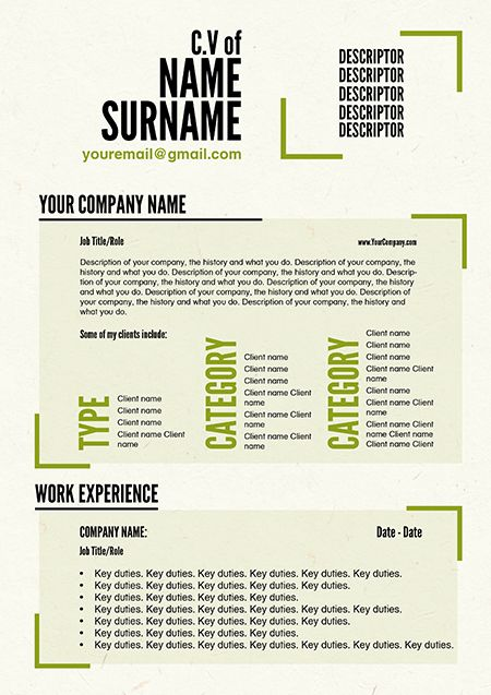 freelance cv template by doric design