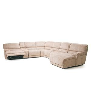 8698 Pillow Arm Reclining Sectional Sofa With Chaise And Console By Cheers  Sofa   Knoxville Wholesale