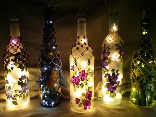 A Few Easy Creative and Inexpensive Wine Bottle Lighting Ideas & A Few Easy Creative and Inexpensive Wine Bottle Lighting Ideas ... azcodes.com