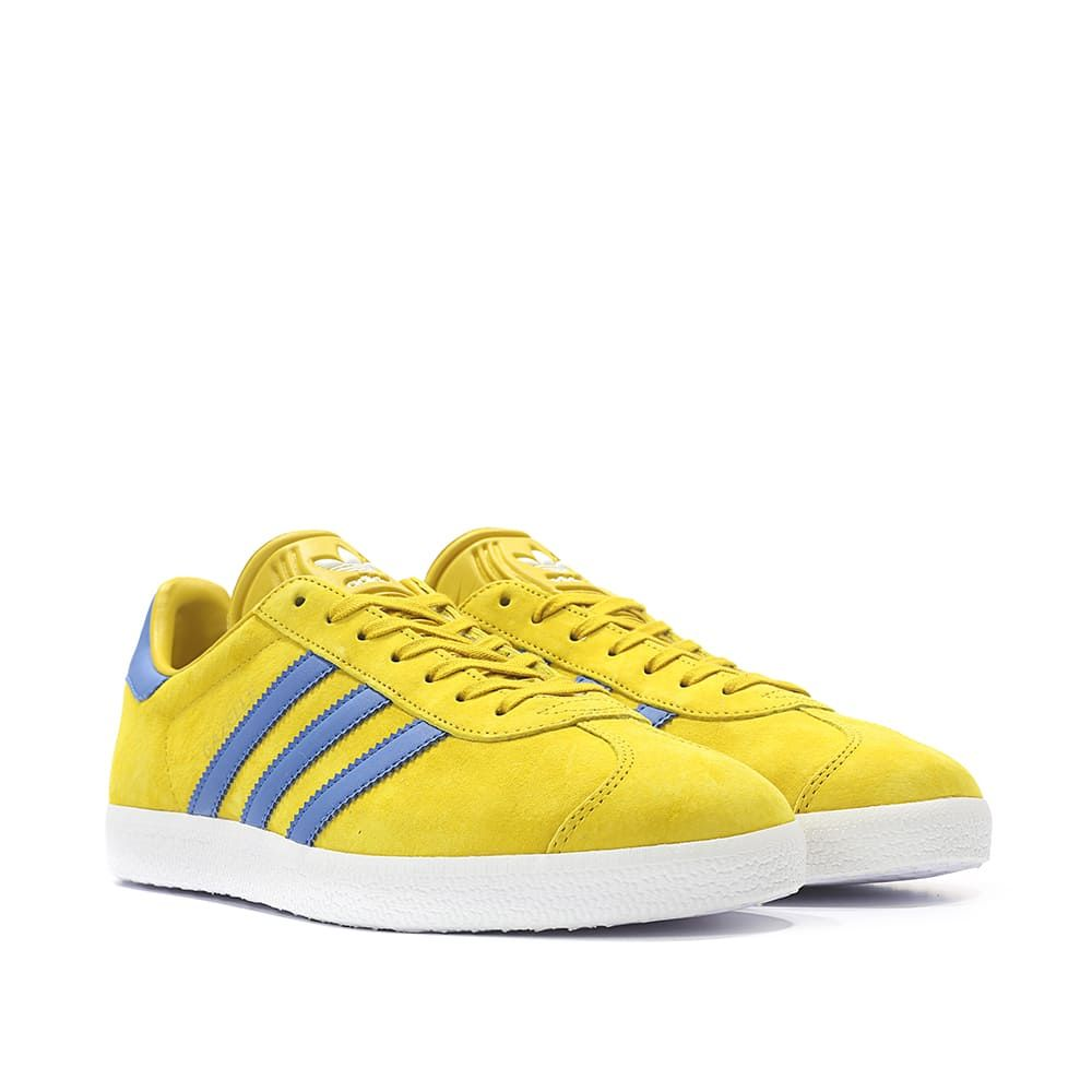 reputable site 3aa55 c420c adidas Originals Gazelle (ocker  blau  weiss)