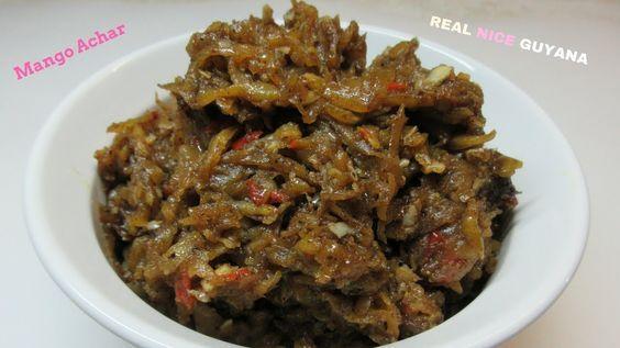 Guyana, Caribbean Mango Achar Step By Step Video Recipe Hd  Guyanese Recipes -9951