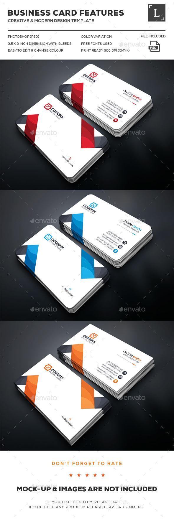 Clean Business Card  Business Cards Business And Card Templates