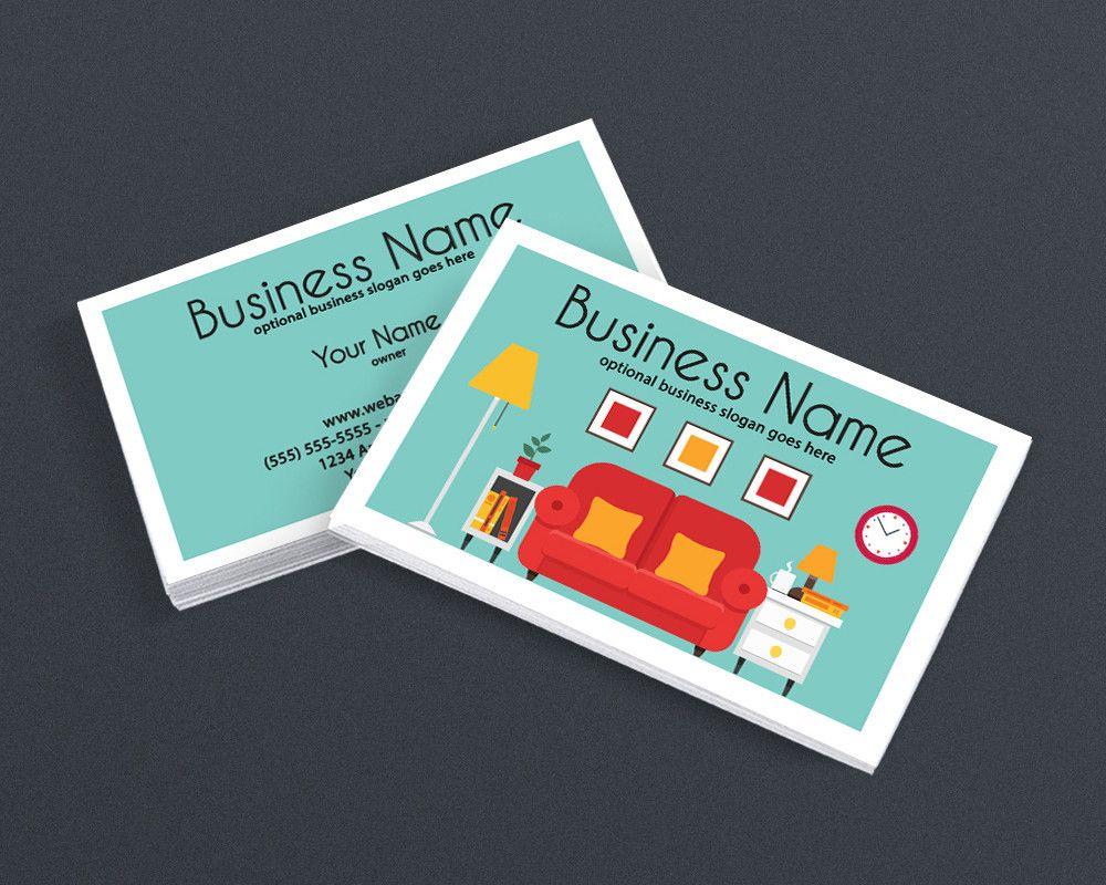 Interior Design Business Cards interior design business card - 2 sided business card design