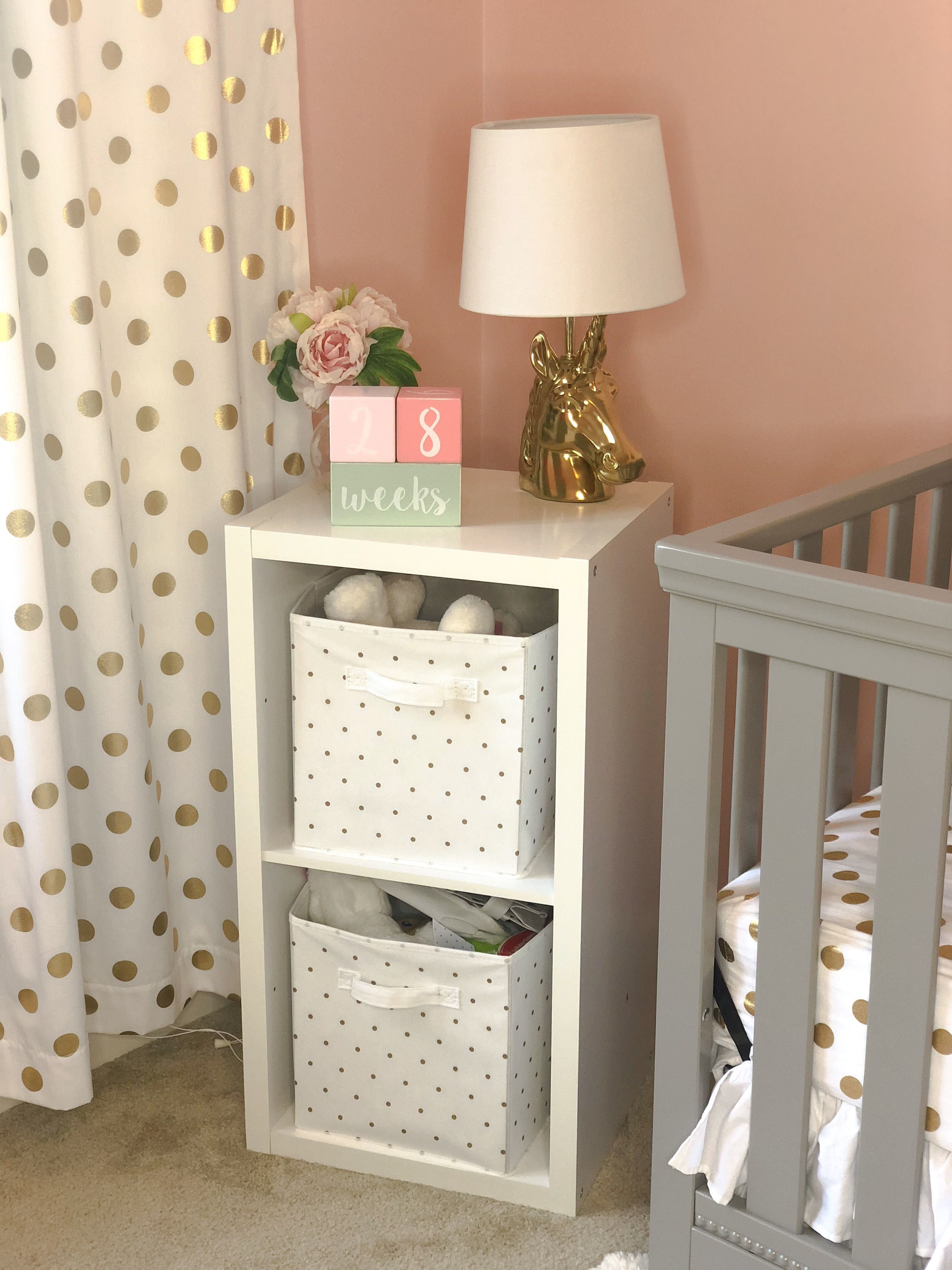 Karoline's Nursery Reveal: Gray, Pink, and Gold Nursery for Baby Girl images