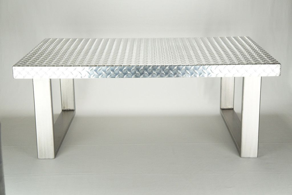 Car Guy Garage 44 L Diamond Plate Coffee Table Diamond Plate Metal Coffee Table Unique Office Decor