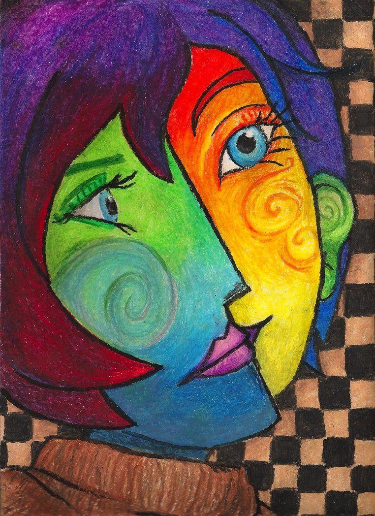 Inspirierend Kubismus Künstler Beste Wahl Picasso Warm/ Cool Portrait Project