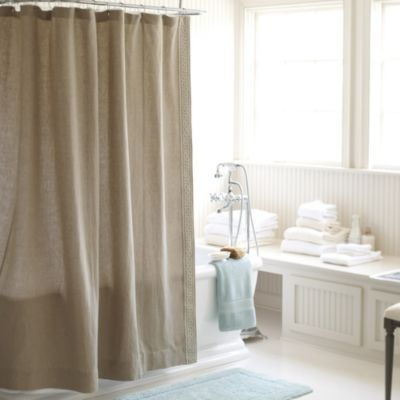 Olympia Greek Key Shower Curtain Natural Ballard Designs Guest