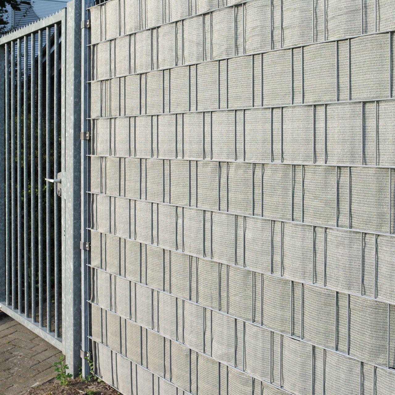PE Sichtschutzstreifen Doppelstabmattenzaun, beige