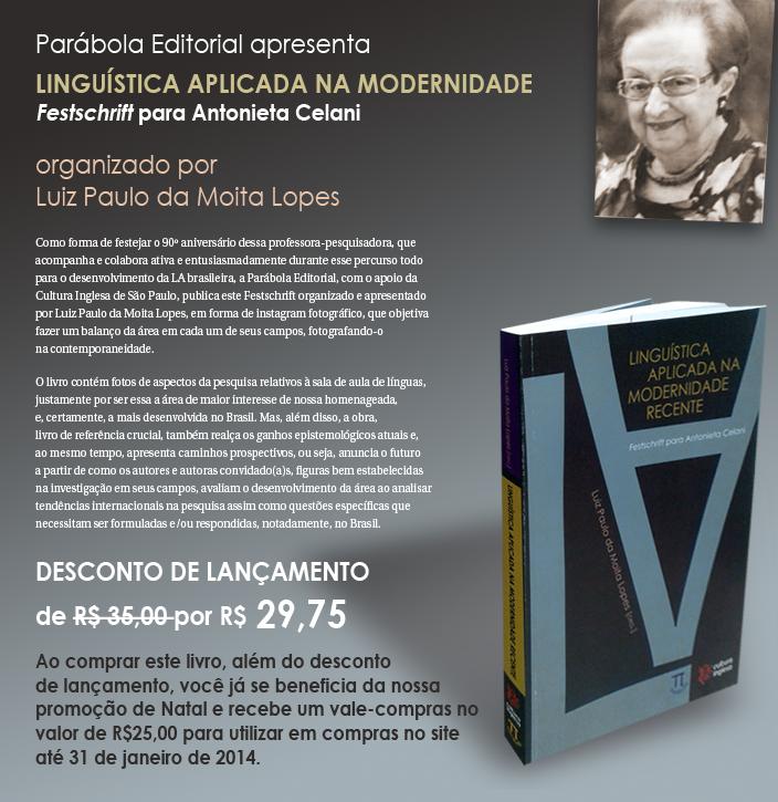 Aproveite e peça já o seu: www.parabolaeditorial.com.br