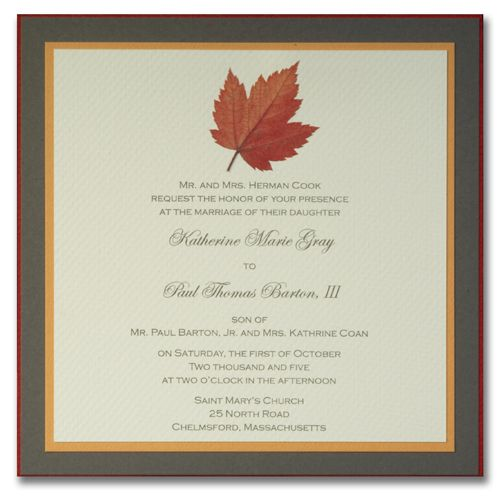 sample wedding invitations October Wedding Wishes Pinterest - best of invitation card wedding format