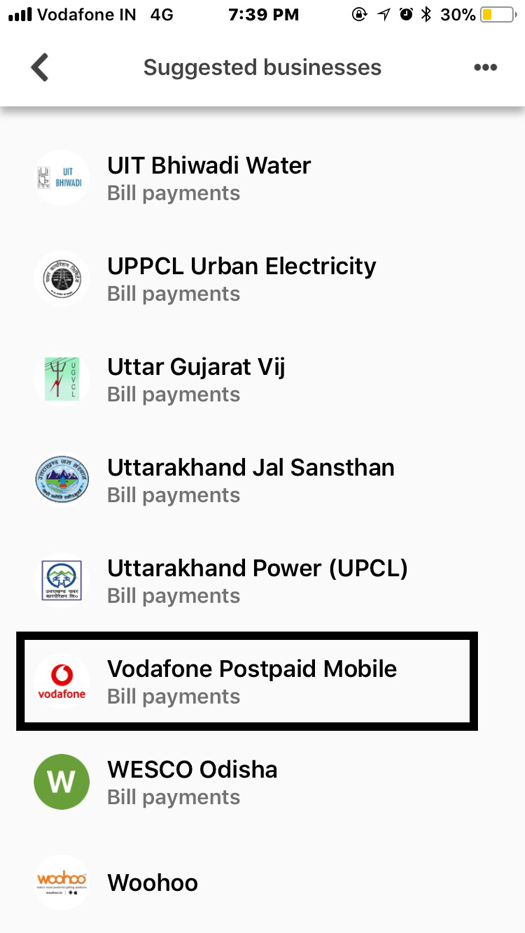Now pay Vodafone postpaid bill payments on Tez and earn a