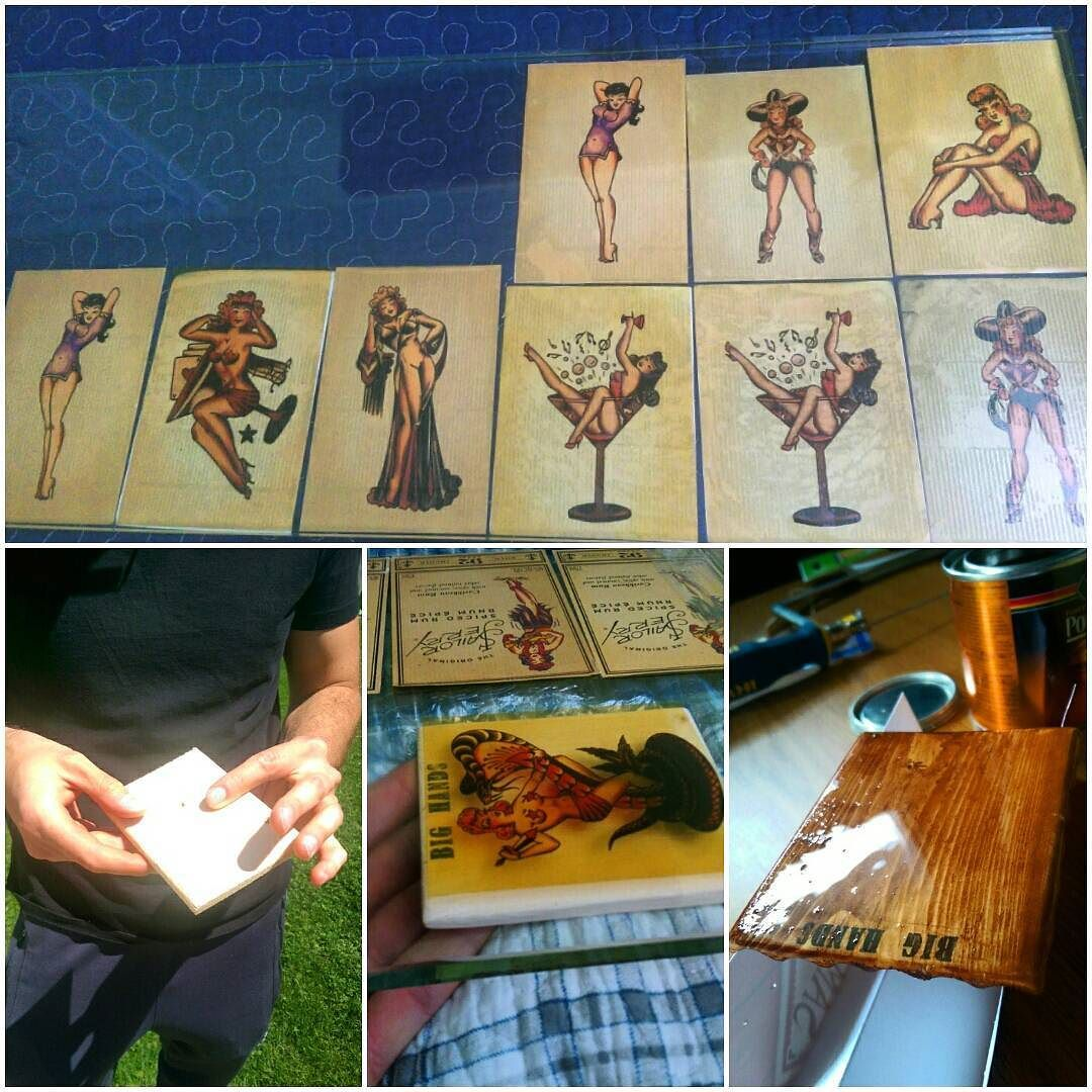 470173761 You can peel back the label on Sailor Jerry Rum bottle to reveal a pin up