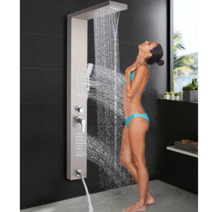 Daily Deal Shower Columns 5-in-1 Massaging Waterfall Shower Panel – UntilGone.com
