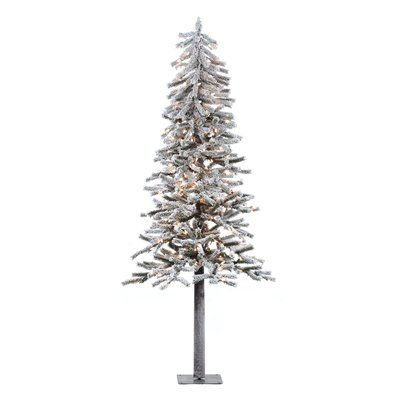 The Holiday Aisle Flocked Alpine 6\u0027 White Artificial Christmas Tree