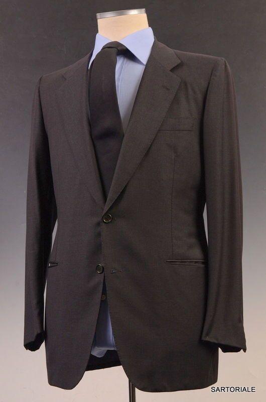 92720844bf213 RUBINACCI LH Hand Made London House Bespoke Gray Wool Business Suit EU 50  US 38 40