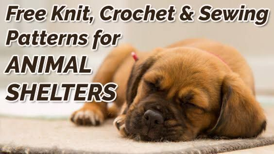 Free Knit, Crochet and Sewing Patterns for Animal Shelters   Animal ...