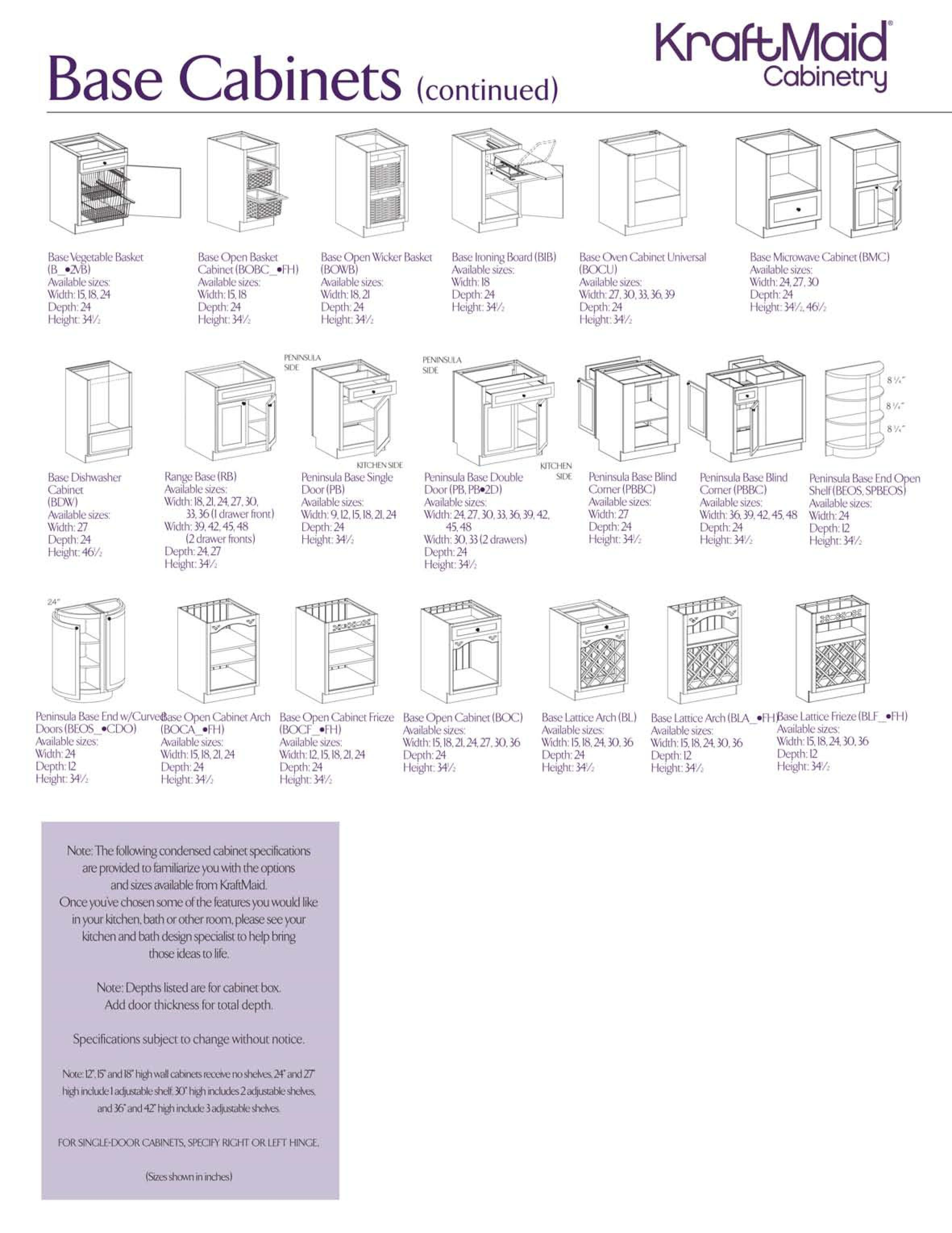 Base Cabinets 4 Kraftmaid Kitchen Cabinets Kitchen Cabinet Dimensions Kitchen Examples