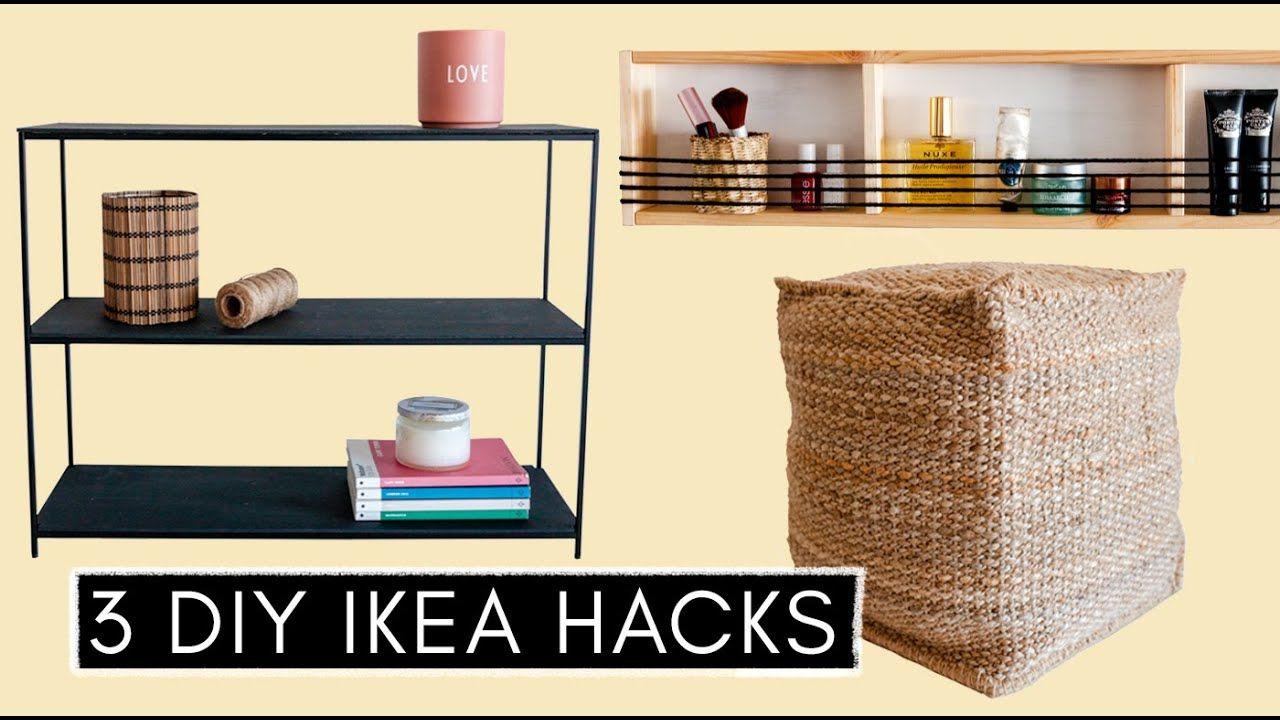 3 Diy Ikea Hacks Pouf Designer Regal Ordnung Im Badezimmer Youtube In 2020 Ikea Diy Ikea Hacks Ikea