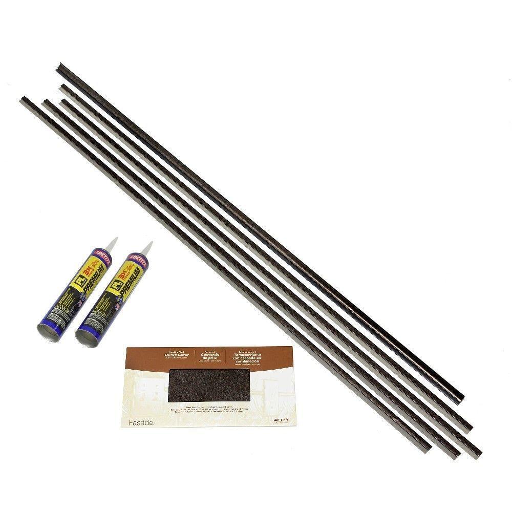 Fasade backsplash accessory kit large profile with adhesive smoked