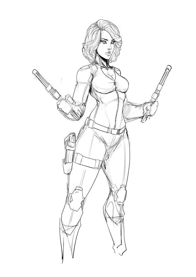 Blackwidow Marvel Drawings Superhero Art Avengers Drawings