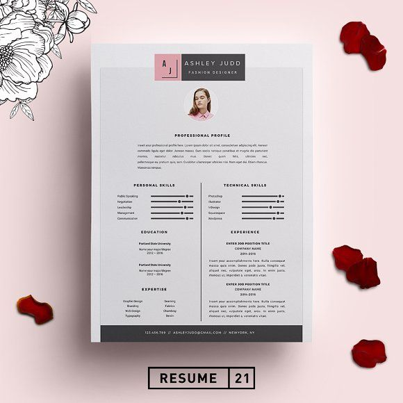 Fashion Designer Resume Template /CV | Pinterest | Template, Cv Template  And Resume Cv