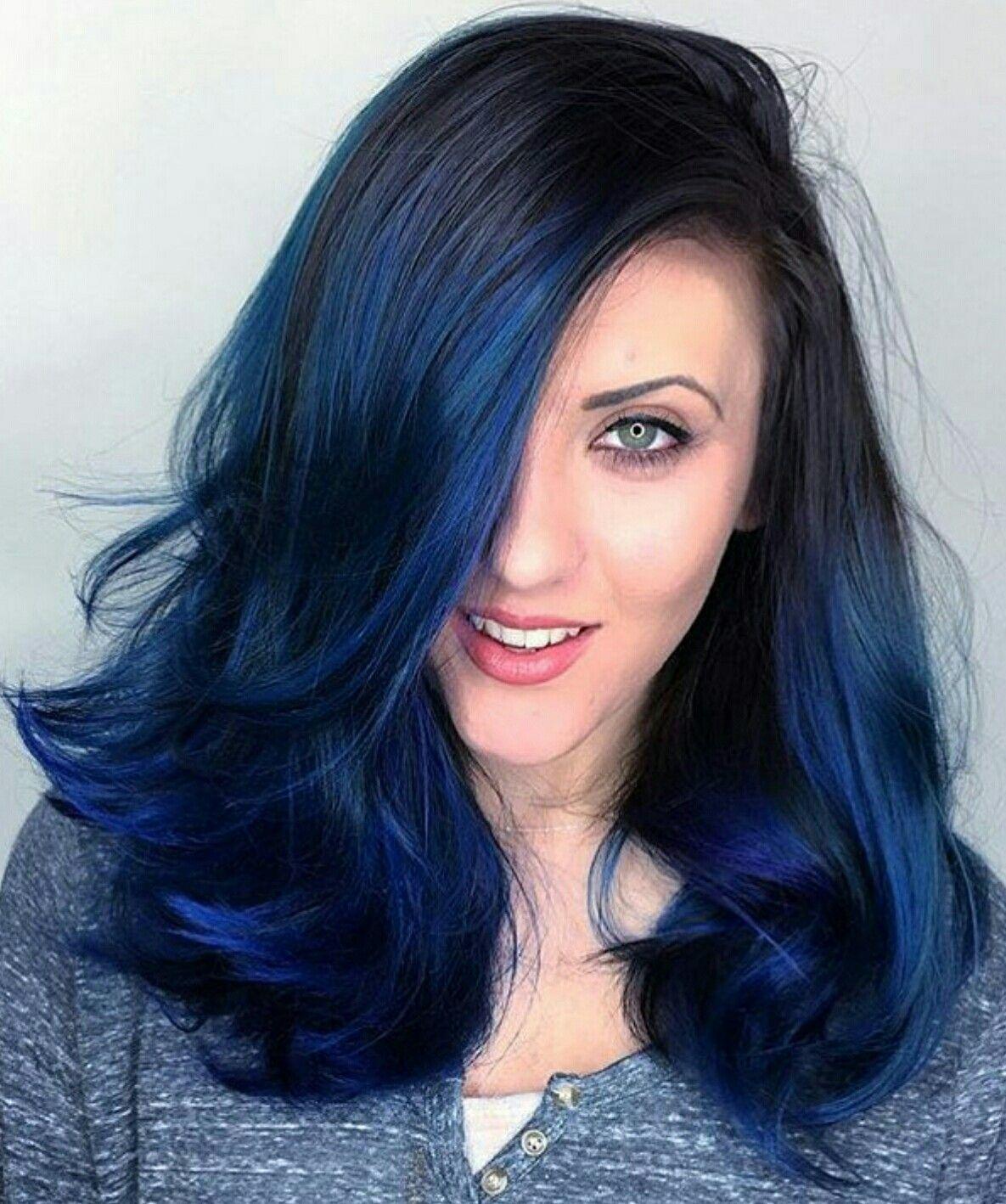 Pin By Rachel Carmona Hughes On Something Fun Hair Color For Black Hair Hair Color Blue Hair Color Dark