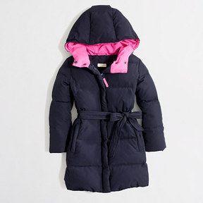 0d0a2355d Factory girls' long belted puffer jacket on shopstyle.com   Children ...