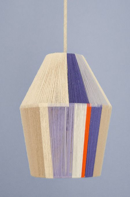 How To Make A Glorious Woven Pendant Shade With Embroidery Floss