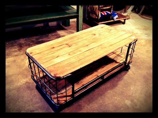 Unique Industrial Coffee Table | Furniture | Pinterest ...