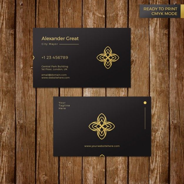 Luxury Black Business Card Template EPS format (editable) Ready to