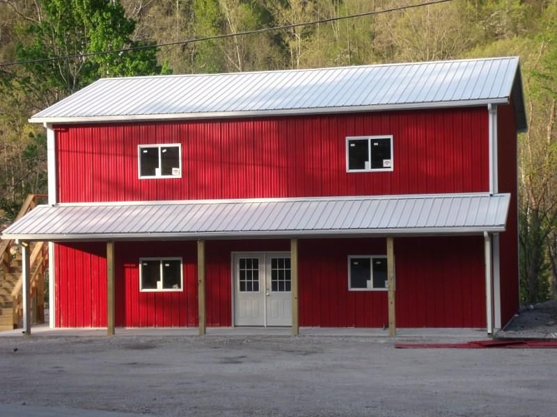 Pole barn house plans pole buildings barn and building for Red barn houses