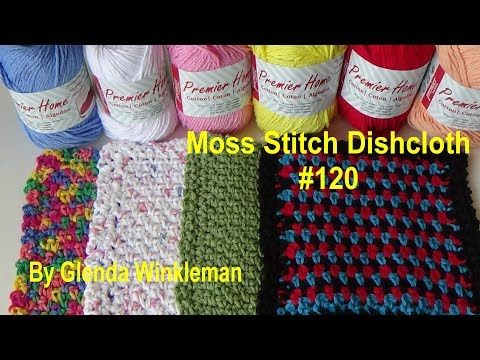 Moss Stitch Dishcloth with Chain Lace Border (Free Pattern at end of ...