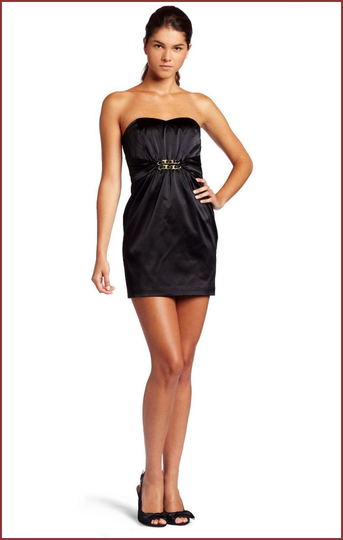 Black Cocktail Dresses | ... Strapless Mini Black Cocktail Dress ...