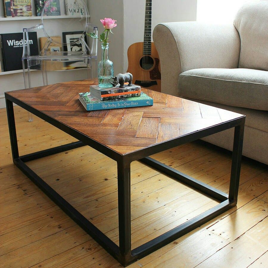 Reuse Old Parquet Flooring Coffee Table Parquet Flooring Reclaimed Wood Coffee Table [ 900 x 900 Pixel ]