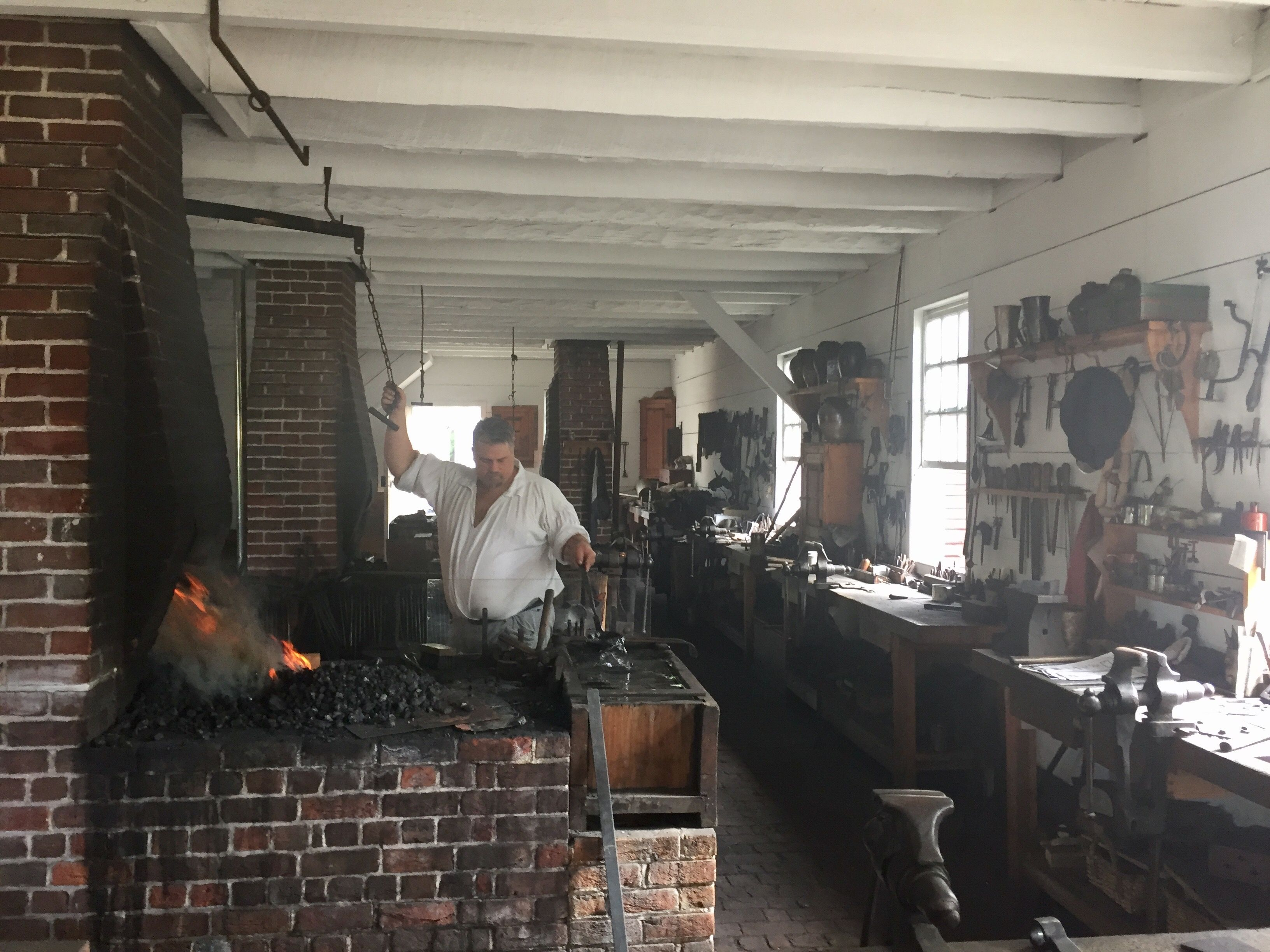 Blacksmith Shop At Colonial Williamsburg  With Images