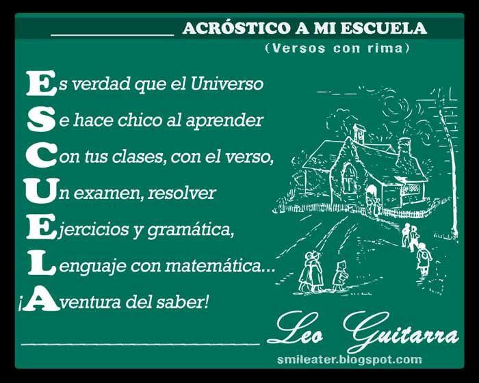 Smileater 2nd: ACRÓSTICOS - ACROSTICS - PROPIOS, SUGERIDOS ... | La ...