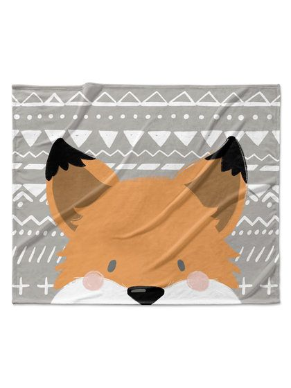 Fox Velveteen Blanket by Kavka Designs at Gilt