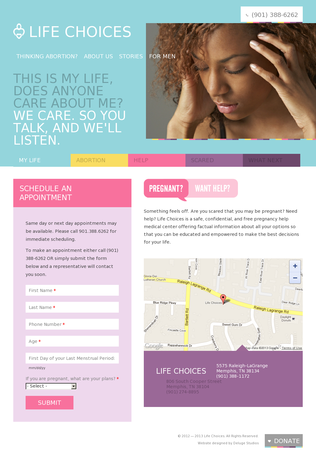 Life Choices Memphis Website Design With Images Web Design Inspiration Web Design Life Choices