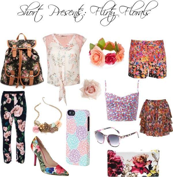 """Flirty Florals"" by shortpresents on Polyvore"