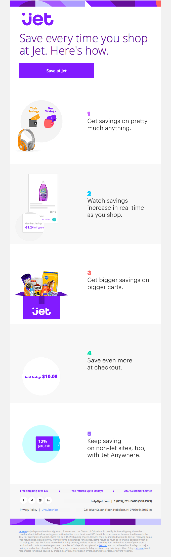 Master The Art Of Saving At Jet Really Good Emails Email Design Best Email