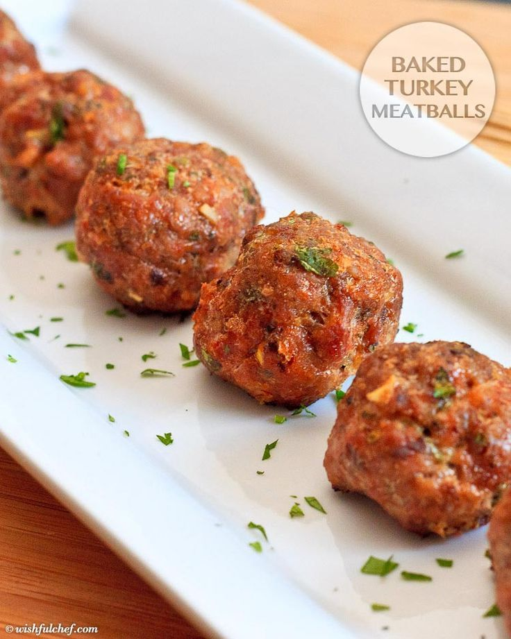 Baked turkey meatballs 1 pound ground turkey 1 egg 12 cup