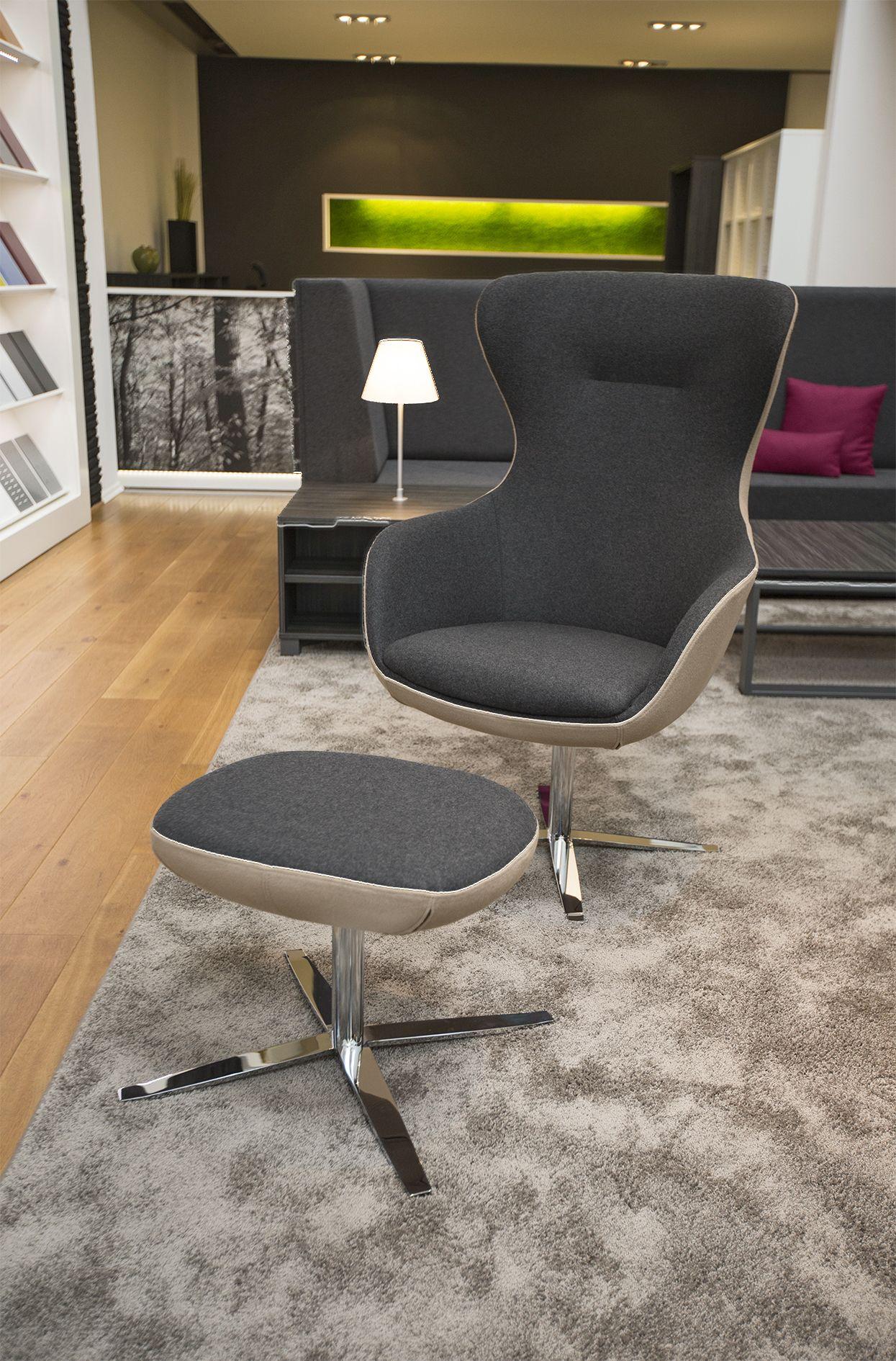 sessel cosy von febr der drehbare relaxsessel cosy bietet wohnliches ambiente im b ro mit. Black Bedroom Furniture Sets. Home Design Ideas
