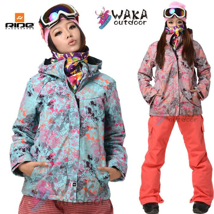 3602221b4c Waka Outdoor Brand snowboard jacket women skiing and snowboarding clothing  for women winter sport suit