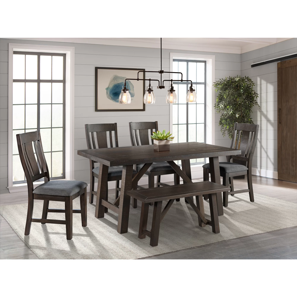 Laurel Foundry Modern Farmhouse Gilberto 6 Piece Dining Set Reviews Wayfair Picket House Furnishings Dining Room Sets Furniture Wayfair dining table and chairs