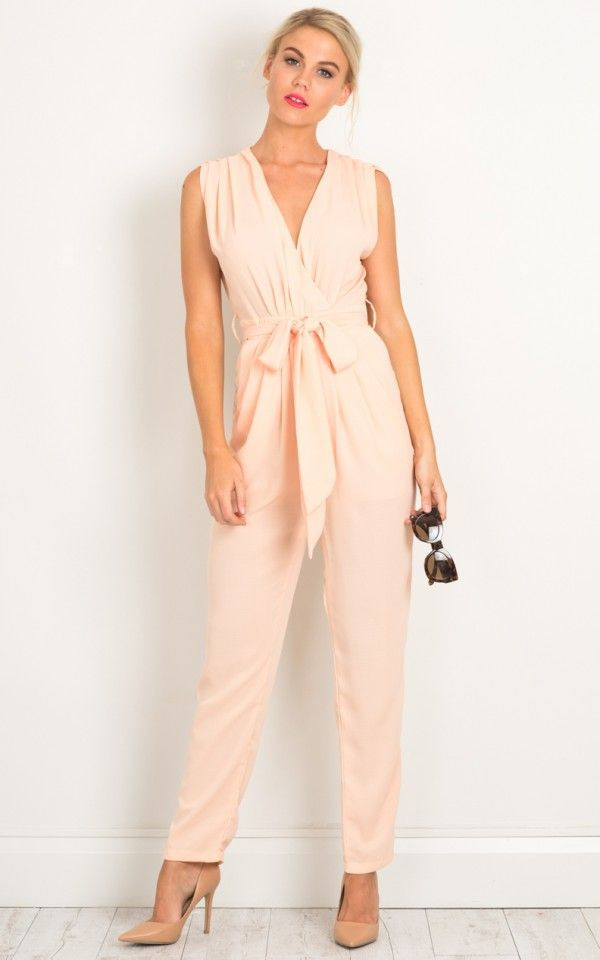 eaee8bf3df8 Workaholic jumpsuit in blush