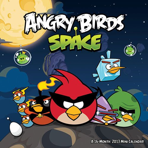 Angry Birds In Space 2013 Mini Wall Calendar Angry Birds