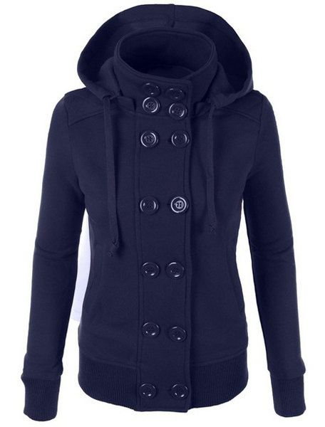 a38743fed4d13 »Chic Hooded Long Sleeve Pure Color Double-Breasted Women s  Hoodie«   fashion · Mi EstiloSudadera Con Capucha Para MujerCapucha ...