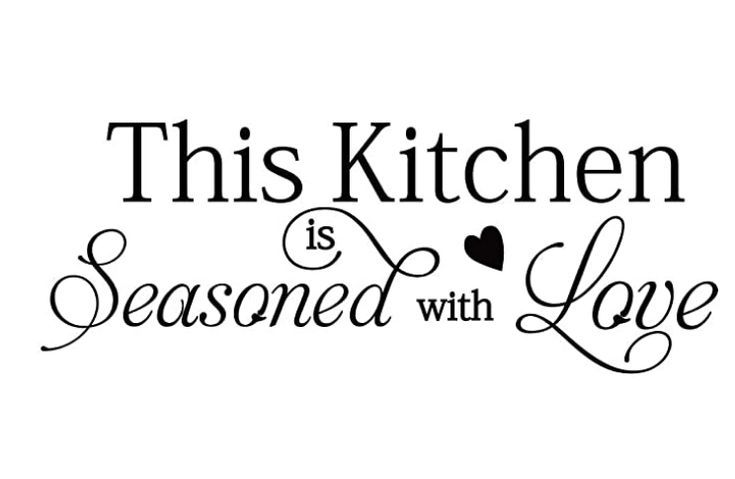 This Kitchen is Seasoned with Love Quotes Wall Stickers Kitchen Art DecorationsVinyl HomeDécor $9.99
