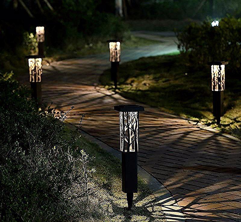 Piquet Solaire Design En Acier Eclairage Blanc Chaud Trendszy In 2020 Solar Lights Outdoor Decor Lamp