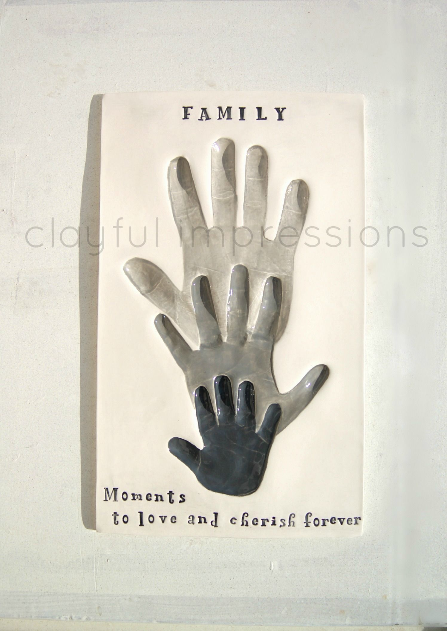 Celebrating Family and the memoires that come with it.  clayfulimpressions / www.etsy.com/shop/Dprintsclayful
